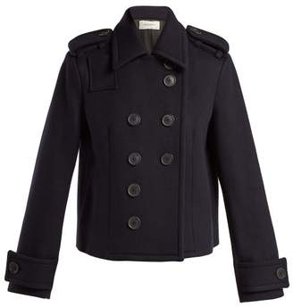 Wales Bonner Double Breasted Wool Jacket - Womens - Navy