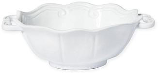 Vietri Incanto Baroque Handle Bowl - White