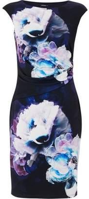 Dorothy Perkins Womens *Roman Originals Purple Floral Print Jersey Bodycon Dress
