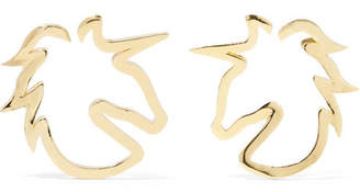 Jennifer Fisher Baby Unicorn Gold-plated Hoop Earrings