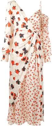 Self-Portrait asymmetric floral printed dress