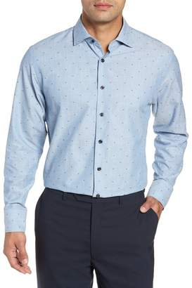 John W. Nordstrom R) Traditional Fit Dot Dress Shirt