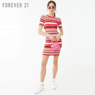 Forever 21 (フォーエバー 21) - Forever 21 マルチボーダーTシャツワンピース