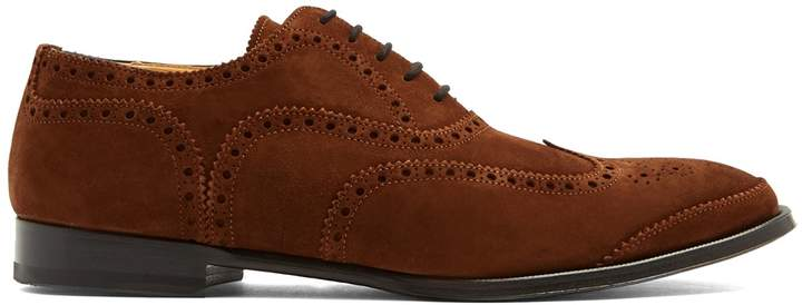 Alexander McQueen Lace-up suede brogues