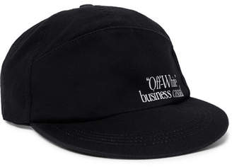 Off-White Printed Cotton-Twill Baseball Cap