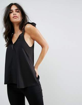 Asos Tie Shoulder Tank in Matt & Shine