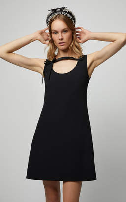 Prada Silk Faille Shift Dress With Scoop Neck