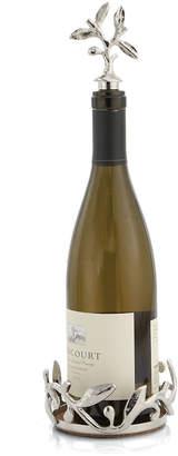 Michael Aram Vine Wine Coaster and Stopper Set