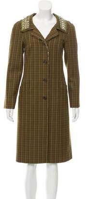 Prada Embellished Wool Coat