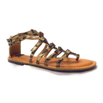 N.Y.L.A. Womens Sumia Ankle Strap Flat Sandals
