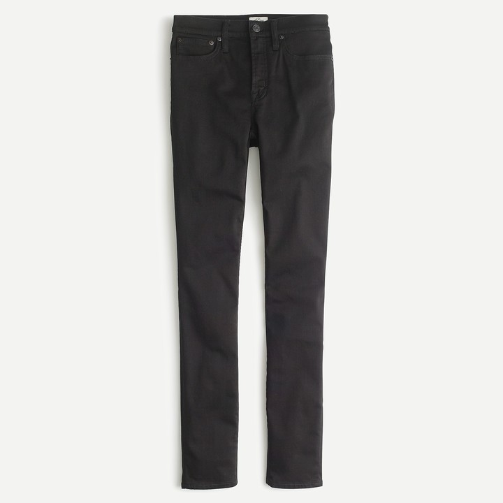"""9"""" High-Rise Stretchy Toothpick Jean In New Black"""