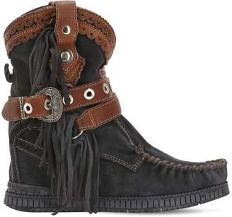 EL VAQUERO 70mm Arya Fringed Suede Boots