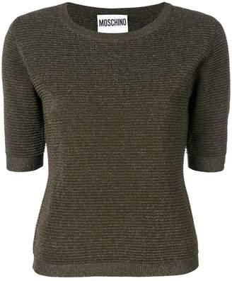Moschino ribbed knit lurex T-shirt
