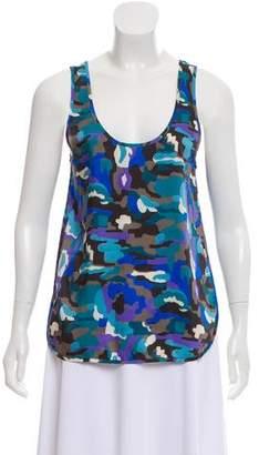 Thakoon Camouflage Sleeveless Top
