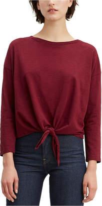 Levi's Greta Cotton Tie Front T-Shirt