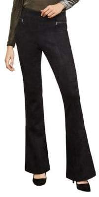 BCBGMAXAZRIA Flared Faux Suede Leggings