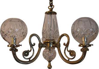 One Kings Lane Vintage Waterford Crystal & Brass Chandelier - Something Vintage