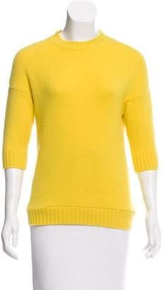 Christian Dior Cashmere Three-Quarter Sleeve Sweater
