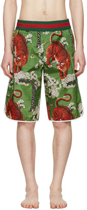 Gucci Green Bengal Swim Shorts $790 thestylecure.com