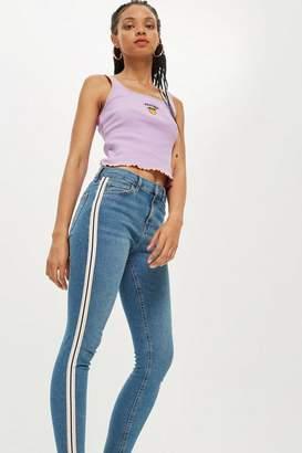 Topshop Petite Side Stripe Jamie Jeans