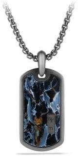 David Yurman Exotic Stone Pietersite, Titanium& Sterling Silver Tag