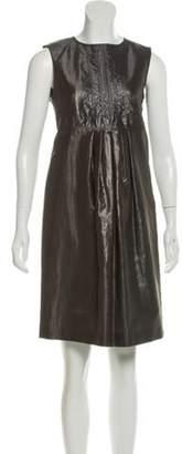 Burberry Silk Pleated Dress Silk Pleated Dress