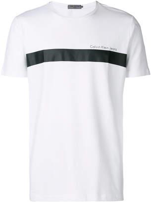Calvin Klein Jeans logo colour-block T-shirt