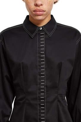 Opening Ceremony Sateen Belt Cuff Button-Down Shirt