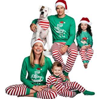 MAIPOETYRY Holiday Stripe Letter Print Striped Christmas Family Pajamas  Sets Sleepwear 980d8d50c