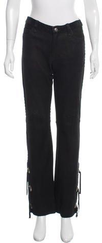Ralph Lauren Collection Embellished Straight-Leg Pants