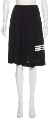 Y-3 Pleated Knee-Length Skirt