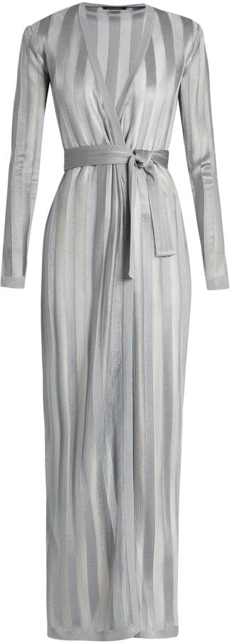 BalmainBALMAIN Long-sleeved striped-knit cardigan