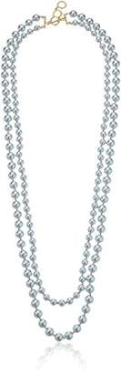 Carolee Gray Rose Two Row Necklace