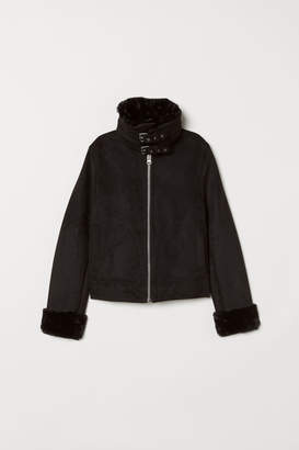 H&M Jacket with faux fur lining