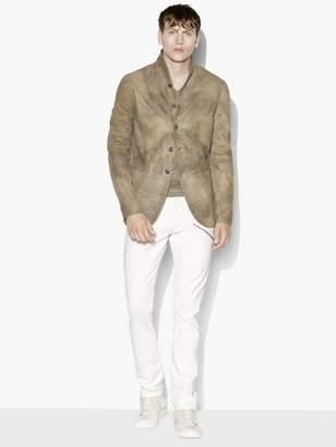 John Varvatos Leather Cutaway Jacket