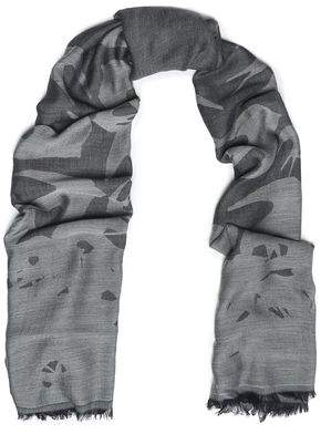 McQ Fringed Modal And Wool-Blend Jacquard Scarf