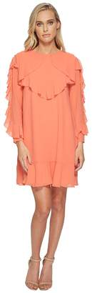 Catherine Malandrino Keely Allover Ruffle Detail Dress Women's Dress