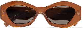 Le Specs The Ginchiest Hexagon-frame Acetate Sunglasses - Camel