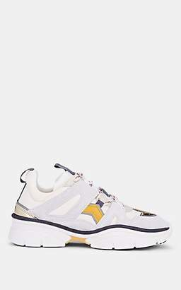 Isabel Marant Women's Kindsay Suede & Neoprene Sneakers - Chalk
