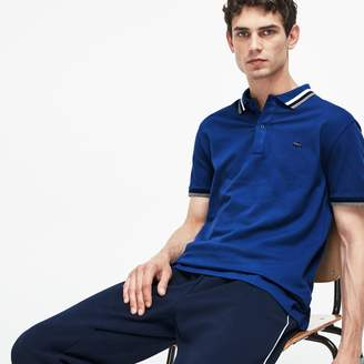 Lacoste Men's Slim Fit Contrast Accents Stretch Pima Pique Polo