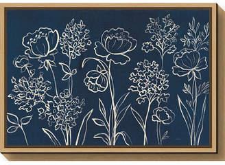 Amanti Art Indigo Floral I by Silvia Vassileva Canvas Framed Art