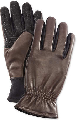 URBAN RESEARCH Men's Gathered-Wrist Leather Gloves