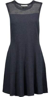 Autumn Cashmere Paneled Cotton Mini Dress