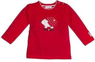 Salt&Pepper Salt and Pepper Baby Girls' BG Longsleeve uni Igel T-Shirt, (Cherry red 352)