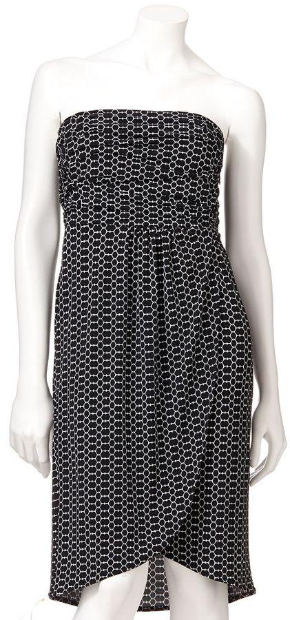 JLO by Jennifer Lopez geometric tube dress