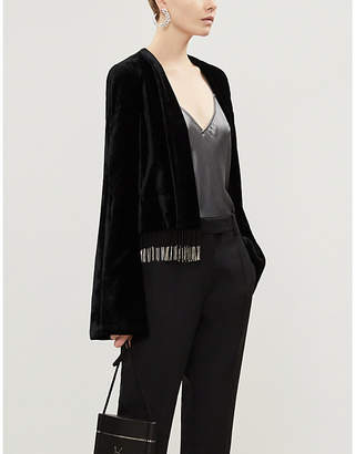 Galvan Tailored-fit beaded velvet jacket
