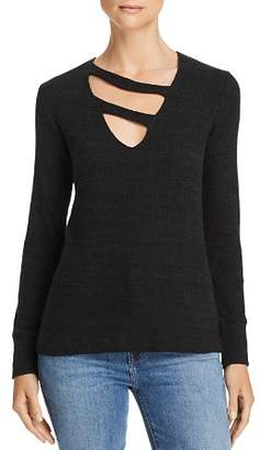 LnA Kindred Asymmetrical-Strap Slub-Knit Sweater