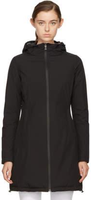 Herno Reversible Black Long Hooded Coat