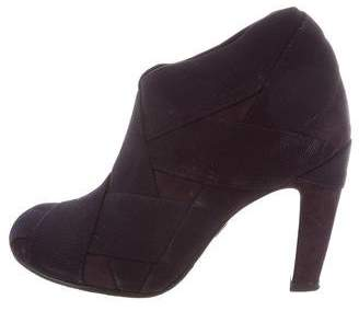 United Nude Round-Toe Suede Booties