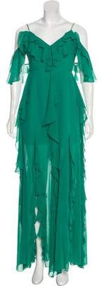Nicholas Ruffled Silk Gown w/ Tags